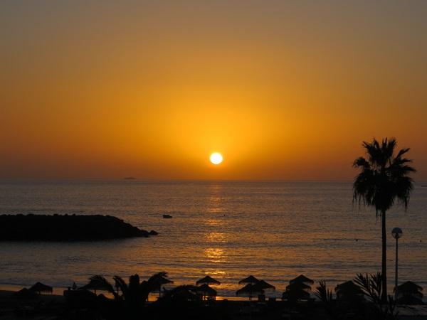 Auringonlasku Espanjassa