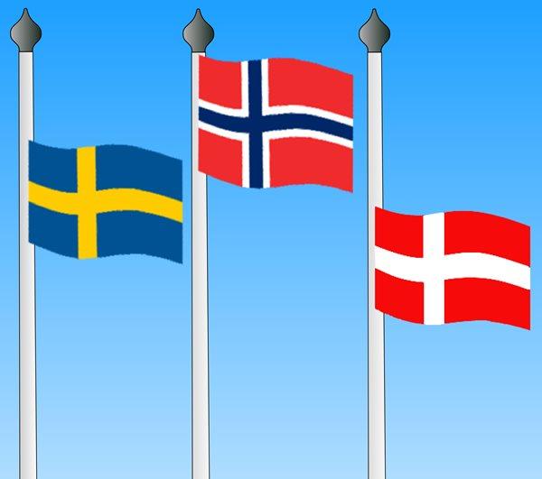Skandinaavisia lippuja