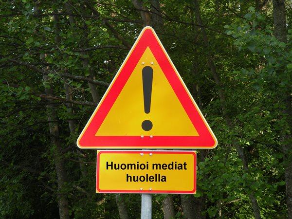 Huomioi mediat huolella