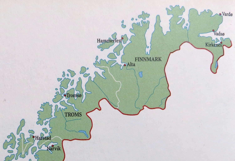 Pohjois Norjan Kartta Kieliluotsin Lokikirja
